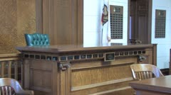 Courtroom the bench3 Stock Footage
