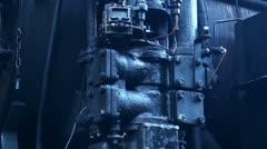 Steam Locomotive detail with sound 20111016 143032 Stock Footage