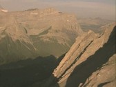 Stock Video Footage of Aerial view of rocky mountains