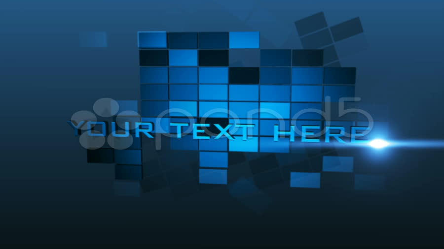 After Effects Project - Pond5 Blue squares template 8907713
