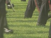 Marching feet of guards band Stock Footage