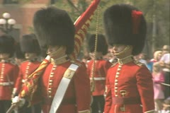 Two guards marching Stock Footage