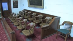 Jury Box - stock footage
