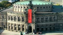 Dresden Semper Opera Deutschland - stock footage