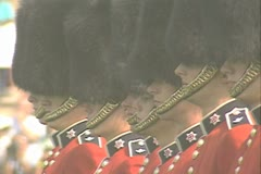 Stock Video Footage of Guards standing in a line