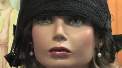 Maniquine Face Stock Footage