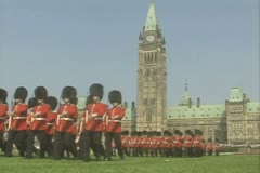 Guards marching in formation Stock Footage