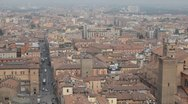 HD Aerial View , Italy, Bologna Cathedral, Cattedrale di San Pietro, Time Lapse Stock Footage