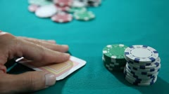 Texas Hold'em Poker Ace King and Chips 3 HD 1080p Stock Footage