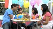 Asian Birthday Boy Receiving Birthday Gift Stock Footage