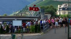 Cruise Rudesheim Ruedesheim am Rhein Rhine valley Stock Footage