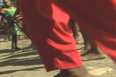 Close up of group of dancers Stock Footage