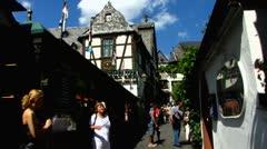 Drosselgasse Rudesheim Ruedesheim am Rhein Rhine valley Stock Footage