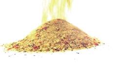 Pouring salty vegetable seasoning Stock Footage