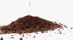 Pouring medium roasted instant coffee Stock Footage
