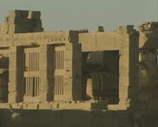 Close up of pillars and ruins Stock Footage