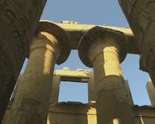 Pan down carved pillars Stock Footage