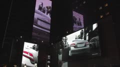 Video Walls, Nokia Center Los Angeles Night Stock Footage
