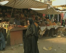 Fruit seller stall Stock Footage
