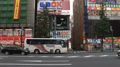 Akihabara - Tokyo, Japan. Electronic stores. Neon. Avenue. Stock Footage