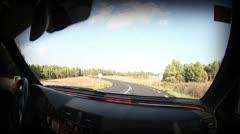 Driving window shoot beautiful landscape Stock Footage