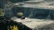Stock Video Footage of Coal mining in an open pit
