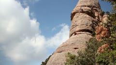 Stock Video Footage of rock climbers montserrat mountain range spain