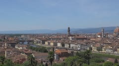 The town hall of Florence and Santa Maria del Fiore, Italy Stock Footage