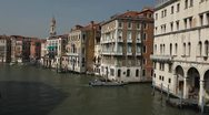 Venice, Italy Aerial View of Grand Canal, Beautiful View from Rialto Bridge Stock Footage