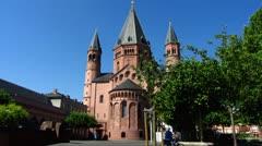 Mainz street scene Rhineland-Palatinate Germany Stock Footage