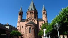 Mainz Mainzer Dom cathedral Rhineland-Palatinate Germany Stock Footage