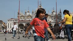 Piazza San Marco, Basilica, Saint Mark's Square, Popular Landmark of Venice - stock footage