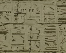 Close up of hieroglyphics Stock Footage