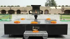 Raj Ghat, Gandhi Memorial Stock Footage