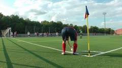 Women´s Soccer Game - stock footage