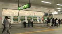 Train Station - Timelapse - Akihabara - Tokyo Japan. Ticket machine. Stock Footage