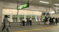 Train Station - Timelapse - Akihabara - Tokyo Japan. Ticket machine. Stock Footage