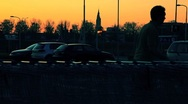 Stock Video Footage of shopping parking at sunset