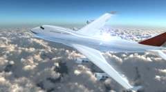 Top airplane flying in the sky Stock Footage
