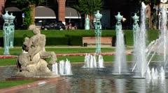 Mannheim water fountain Rhein Neckar Baden Wuerttemberg - stock footage