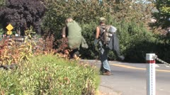 Hobos Walking - stock footage