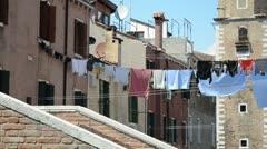 Street scene in Venice Stock Footage