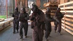 Special Forces Slowmotion kävelee nokka Arkistovideo