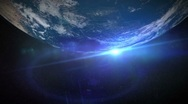 Planet - Earth - 5 - Top - Rotate and Flare Stock Footage
