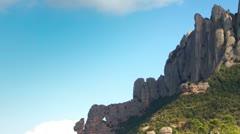 Montserrat mountain range spain Stock Footage