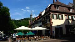 Weinheim timbered house in old town Baden Wuerttemberg Stock Footage