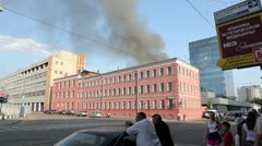 Fire in the Moscow city, 2011. - stock footage