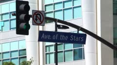 Ave of the stars Stock Footage