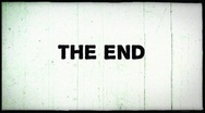 8mm film damage - The End - white Stock Footage
