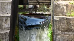 Anweiler am trifels nostalgic water mill wheel Rhineland-Palatinate - stock footage